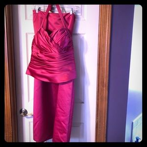 Fuchsia Bill Levkoff 2-pc. Prom Dress